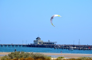 Kiteboarding in St. Kilda