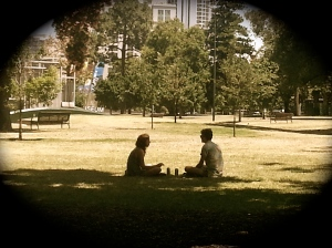 lunch in park